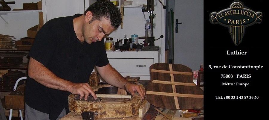 manouche classique flamenco luthier guitare castelluccia paris. Black Bedroom Furniture Sets. Home Design Ideas